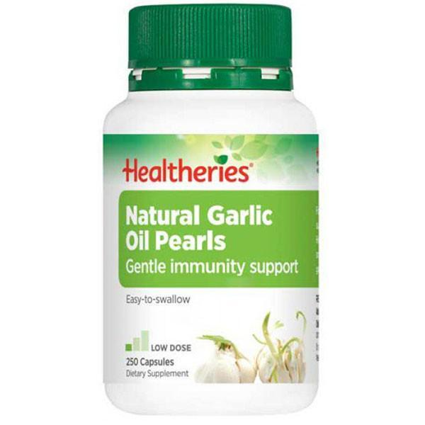 Healtheries Natural Garlic Oil Pearls 250 Capsules-Physical Product-Healtheries-Supplements.co.nz