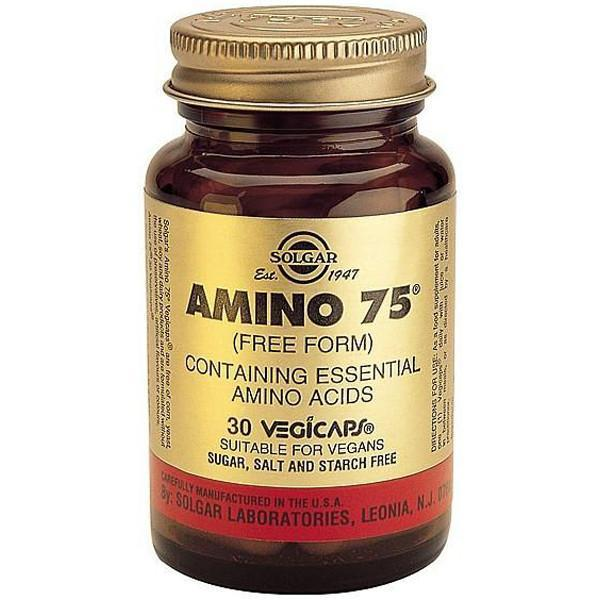 Solgar Amino 75 30 Vegetable Capsules-Physical Product-Solgar-Supplements.co.nz