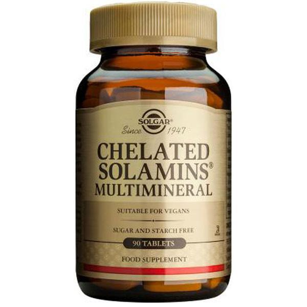 Solgar Chelated Solamins Multimineral 90 Tabs-Physical Product-Solgar-Supplements.co.nz