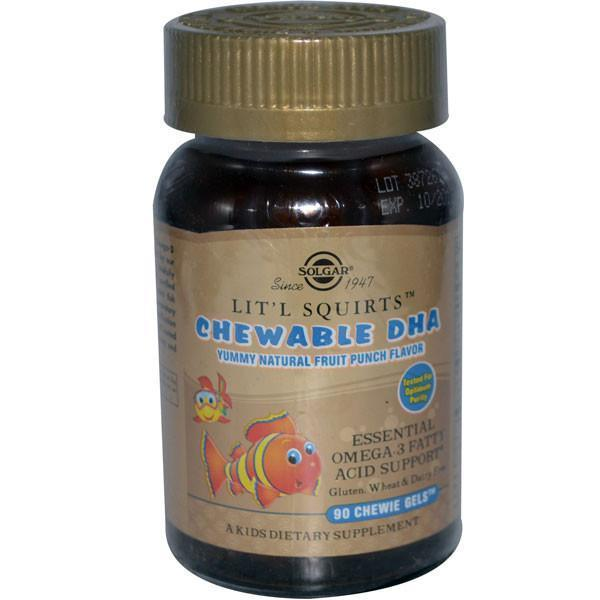 Solgar Children's DHA Lit'l Squirts 90 Caps-Physical Product-Solgar-Supplements.co.nz