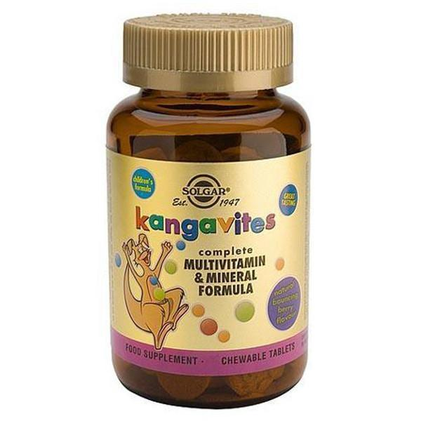Solgar Kangavites Multivitamin and Mineral Formula 120 Tabs-Physical Product-Solgar-Berry-Supplements.co.nz