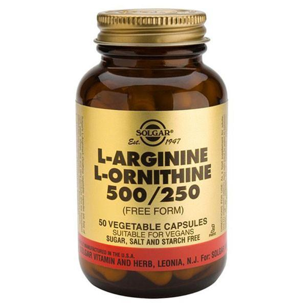 Solgar L-Arginine / L-Ornithine 50 Caps-Physical Product-Solgar-Supplements.co.nz
