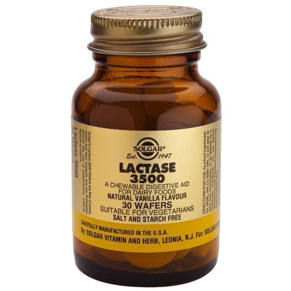 Solgar Lactase 3500 30 Tabs-Physical Product-Solgar-Supplements.co.nz