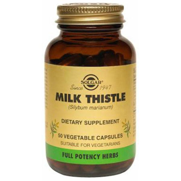 Solgar Milk Thistle 50 Vegetable Capsules-Physical Product-Solgar-Supplements.co.nz