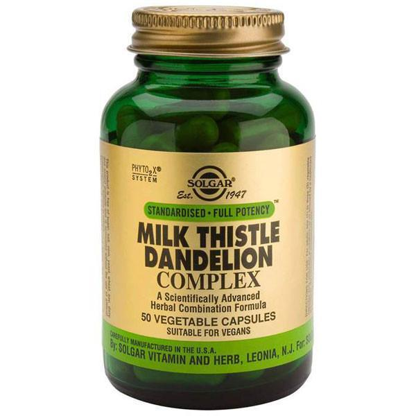 Solgar Milk Thistle Dandelion Complex 50 Vegetable Capsules-Physical Product-Solgar-Supplements.co.nz