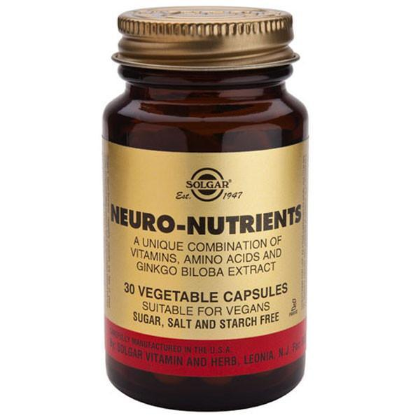 Solgar Neuro Nutrients 30 Caps-Physical Product-Solgar-Supplements.co.nz