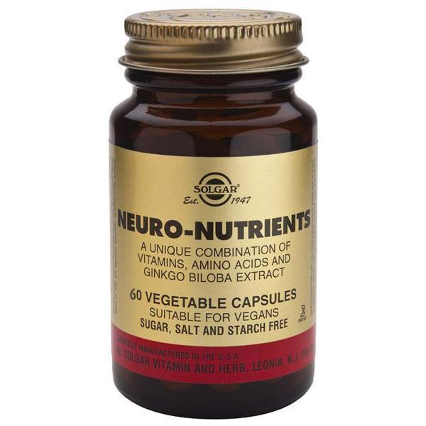 Solgar Neuro Nutrients 60 Caps-Physical Product-Solgar-Supplements.co.nz