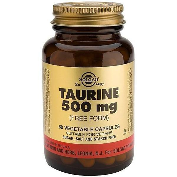 Solgar Taurine 500mg 50 Caps-Physical Product-Solgar-Supplements.co.nz
