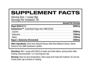 1UP Nutrition Natural Vegan BCAAs 30 Serve - Supplements.co.nz