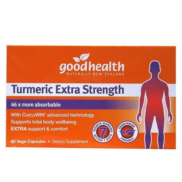 Good Health Turmeric Extra Strength 60 Capsules-Physical Product-Good Health-Supplements.co.nz
