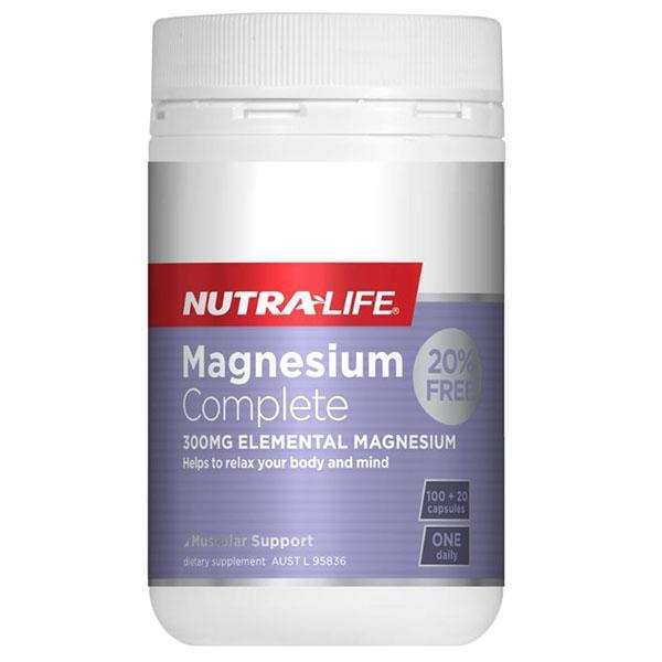 Nutralife Magnesium Complete 100 Caps + 20% Extra Free - Supplements.co.nz