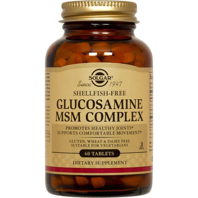Solgar - Solgar Glucosamine MSM Complex (Shellfish-Free) 60 Tablets - Supplements.co.nz