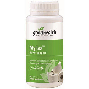 Good Health Mg Lax Bowel Support 60 Capsules - Supplements.co.nz