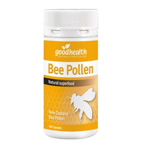 Good Health Bee Pollen 500mg 100 Capsules-Physical Product-Good Health-Supplements.co.nz