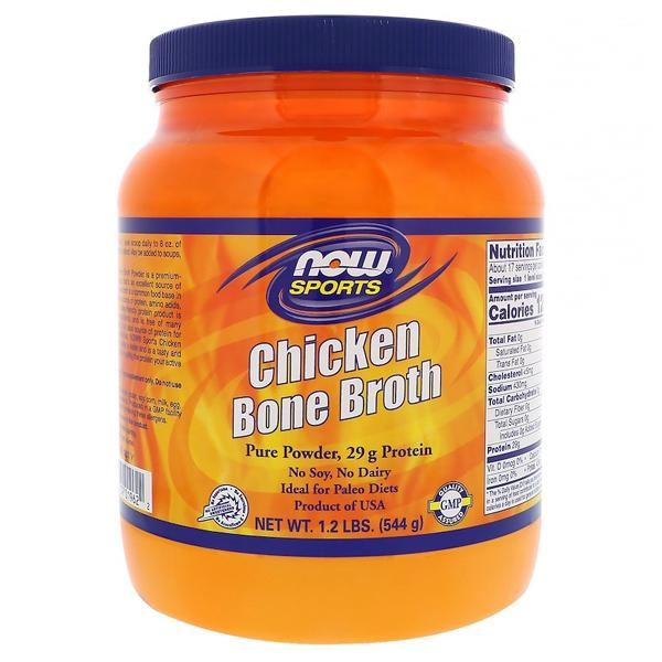 Now Foods Chicken Bone Broth Powder 544g