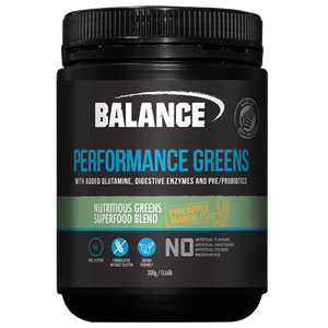 Balance Performance Greens 300g - Supplements.co.nz