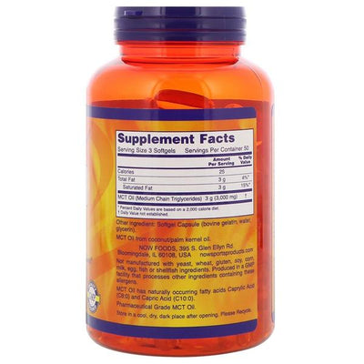 Now Sports MCT Oil 1000mg 150 Softgels