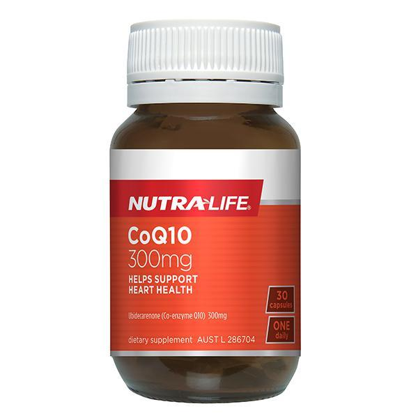 Nutralife CoQ10 300mg 30 Capsules - Supplements.co.nz