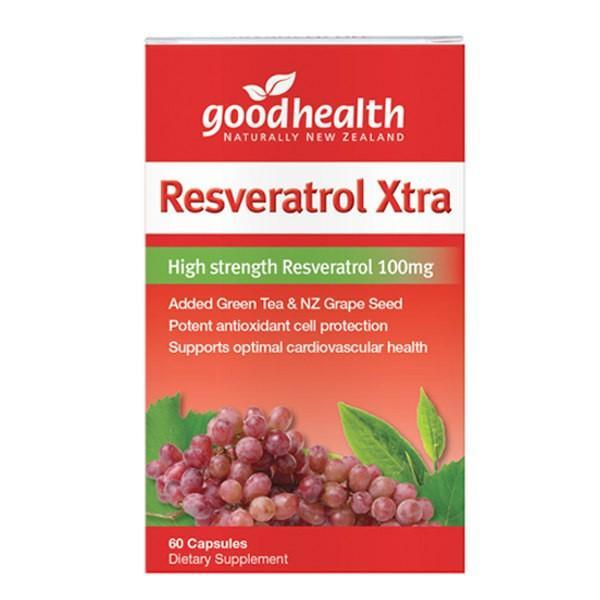 Good Health Resveratrol Xtra 100mg 60 Capsules - Supplements.co.nz