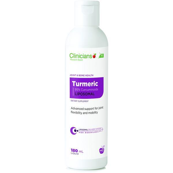 Clinicians Turmeric 95% Curcuminoids Liposomal 180ml - Supplements.co.nz