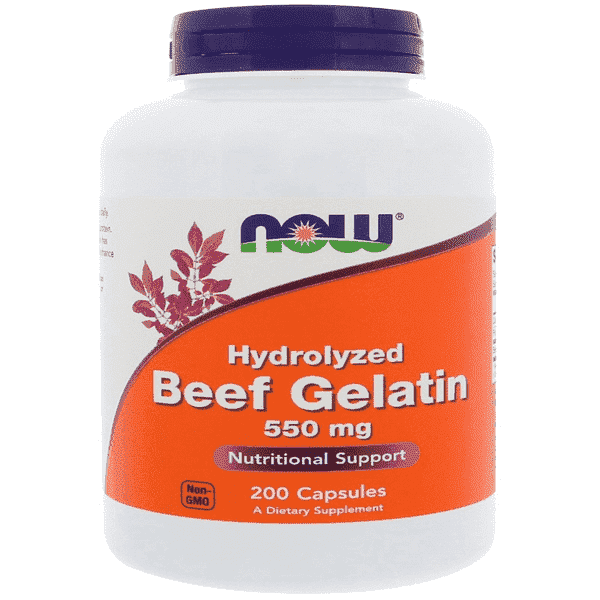 Now Foods Hydrolyzed Beef Gelatin 550mg 200 Caps
