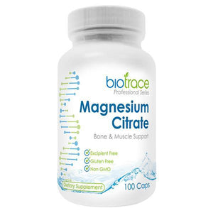 BioTrace Magnesium Citrate 100 Capsules - Supplements.co.nz