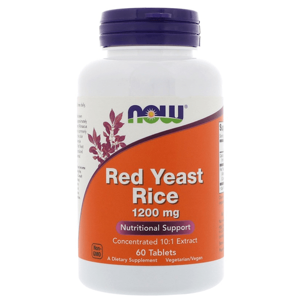 Now Foods Red Yeast Rice 1200mg 60 Tabs