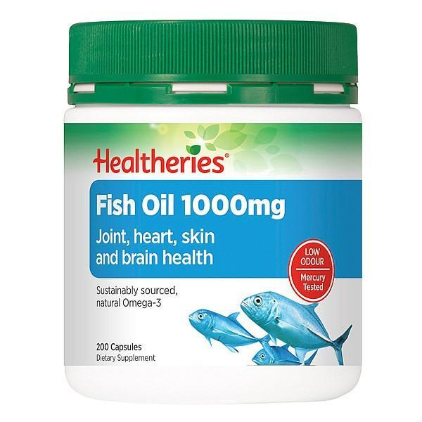 Healtheries Fish Oil 1000, 200 capsules - Supplements.co.nz