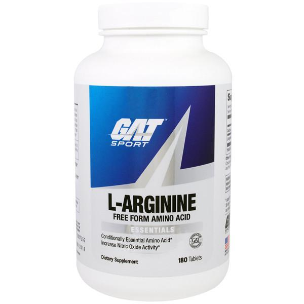 GAT Essentials L-Arginine 180 Capsules - Supplements.co.nz