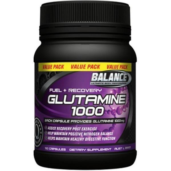 Balance Glutamine 1000mg - 150 Caps-Physical Product-Balance-Supplements.co.nz