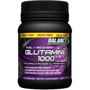 Balance Glutamine 1000mg 150 Caps - Supplements.co.nz