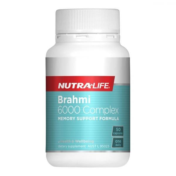Nutralife Brahmi 6000 Complex 50 Capsules - Supplements.co.nz