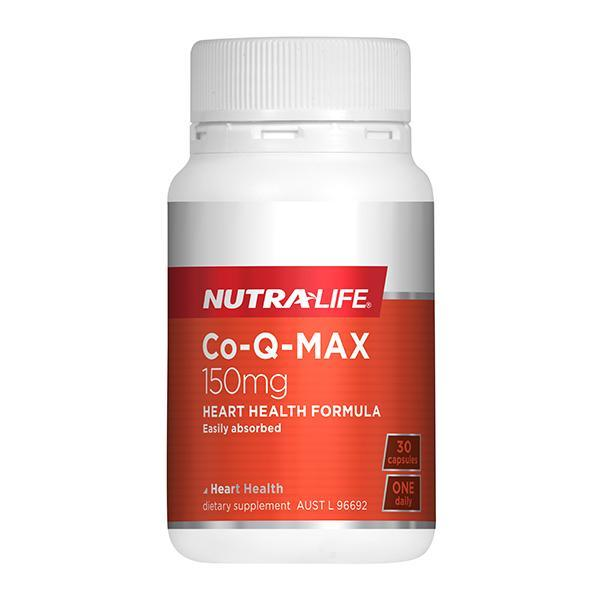 Nutralife Co-Q MAX 30 Caps - Supplements.co.nz