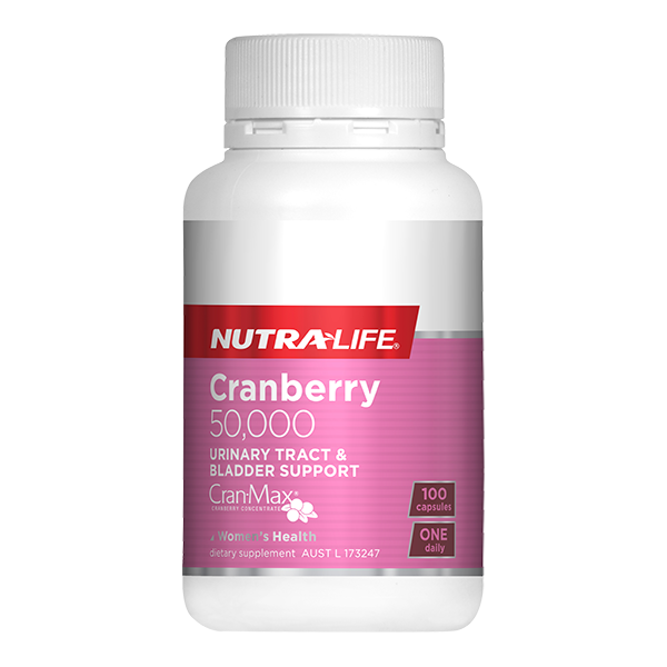 Nutralife Cranberry 50,000 100 Capsules - Supplements.co.nz