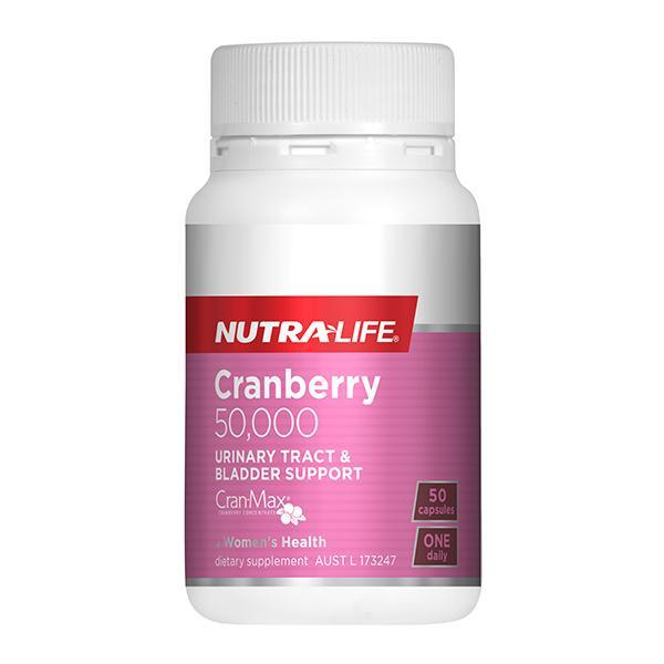 Nutralife Cranberry 50,000 50 Caps - Supplements.co.nz