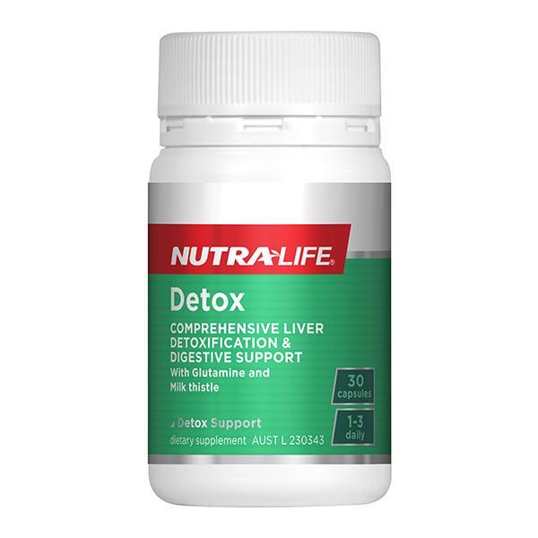 Nutralife Detox 30 Capsules - Supplements.co.nz