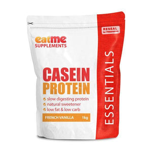 EAT ME Supplements - Eat Me Supplements Casein Protein 1kg French Vanilla Shake - Supplements.co.nz - 1