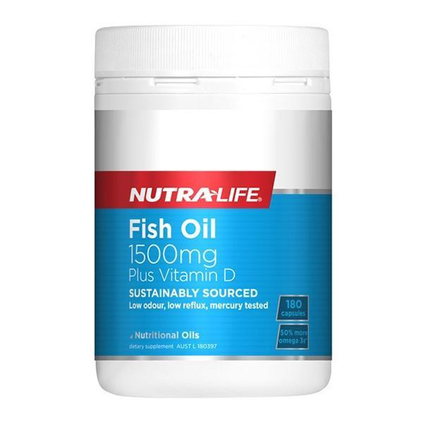 Nutralife Fish Oil 1500mg Plus Vitamin D 180 Caps - Supplements.co.nz