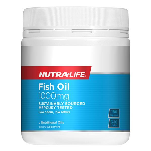 Nutralife Fish Oil 1000mg 180 Caps - Supplements.co.nz