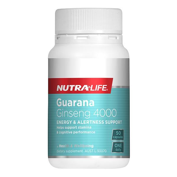 Nutralife Guarana Ginseng 4000 50 Capsules - Supplements.co.nz