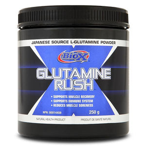 Bio X Glutamine Rush 250g-Physical Product-BioX Performance-Supplements.co.nz