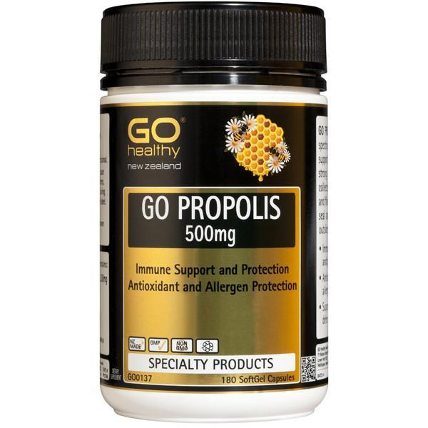 Go Healthy Go Propolis 500Mg 180 Caps-Physical Product-GO Healthy-Supplements.co.nz