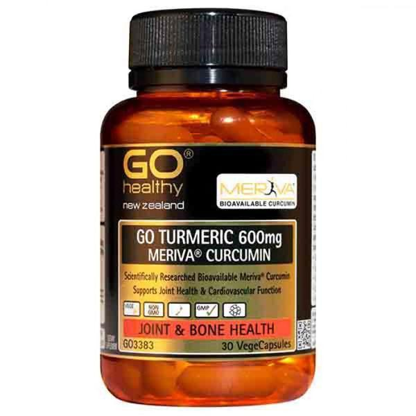 Go Healthy Go Turmeric 600mg 30 Veggie Caps - Supplements.co.nz