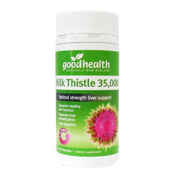 Good Health Milk Thistle 35,000 100 Capsules - Supplements.co.nz