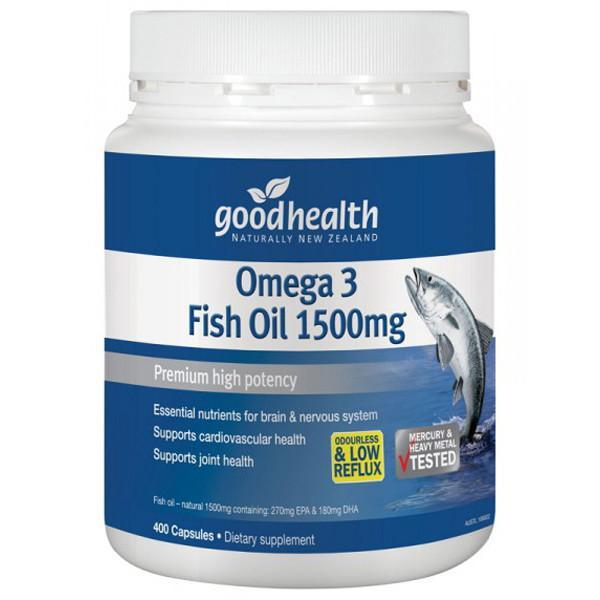 Good health omega 3 fish oil 1500mg 400 caps supplements for What is omega 3 fish oil good for