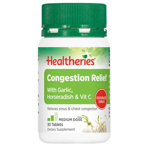 Healtheries Congestion Relief Tablets 30s-Physical Product-Healtheries-Supplements.co.nz