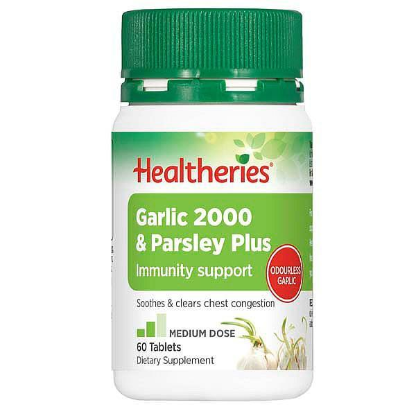 Healtheries Garlic 2000 & Parsley Plus 60 Tablets - Supplements.co.nz