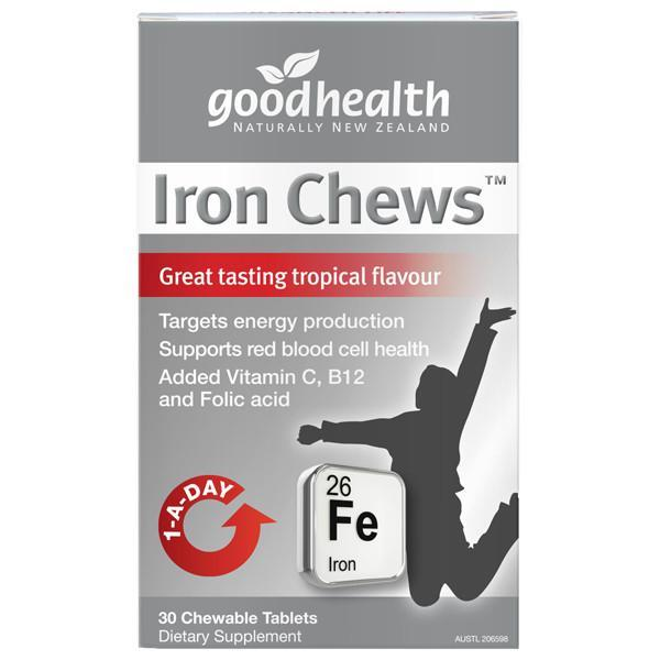 Good Health Iron Chews 30 Tabs-Physical Product-Good Health-Supplements.co.nz