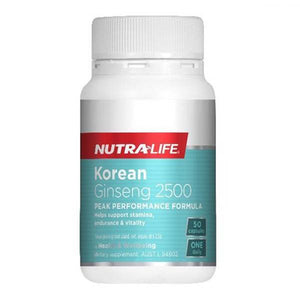 Nutralife Korean Ginseng 2500 50 Capsules - Supplements.co.nz