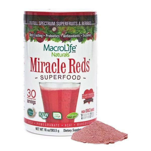 MacroLife Naturals Miracle Reds Superfood 30 Servings - Supplements.co.nz